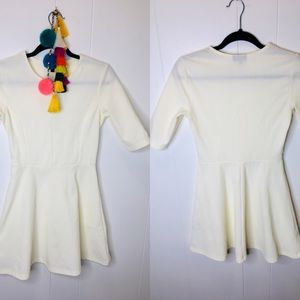 TopShop Cream Fit and Flare Dress